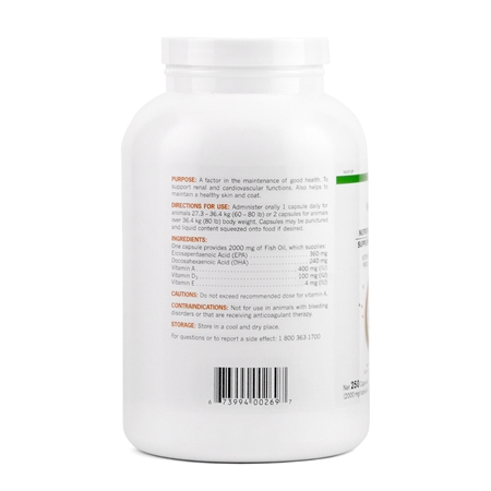 Picture of ALLERG-3 OMEGA 3 FATTY ACID SUPPLEMENT for LARGE DOGS - 250's