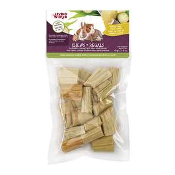 Picture of LIVING WORLD SMALL ANIMAL PAPAYA CHEWS Sugarcane Stalk Cubes (61109)- 40g