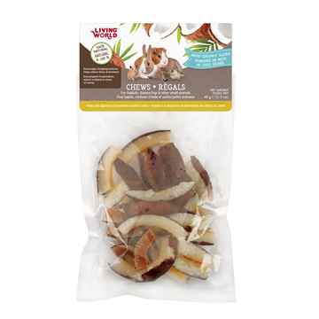 Picture of LIVING WORLD SMALL ANIMAL CHEWS Dried Coconut Slices(61111) - 45g