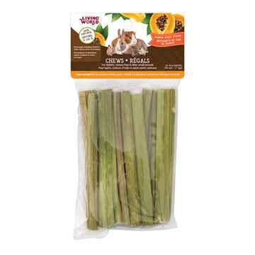 Picture of LIVING WORLD SMALL ANIMAL CHEWS Papaya Stalk Sticks (61106) - 10/bag