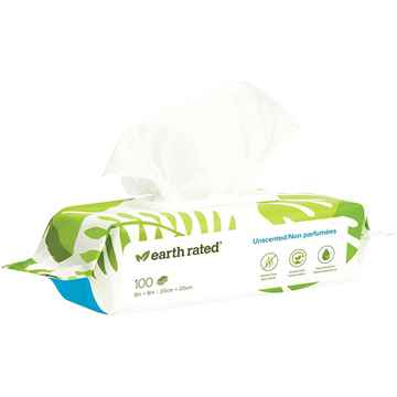Picture of EARTH RATED DOG WIPES UnScented - 100/pk