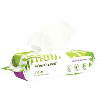 Picture of EARTH RATED DOG WIPES Lavender Scent - 100/pk