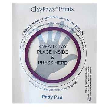 Picture of CLAYPAWS Pet Print CIRCLE MOLD Maroon (J1500C) - 4in Diameter