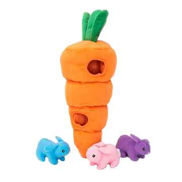 Picture of TOY DOG ZIPPY PAWS BURROW - Easter Carrot(nr)