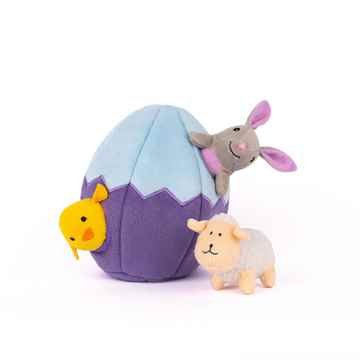 Picture of TOY DOG ZIPPY PAWS BURROW - Easter Egg and Friends