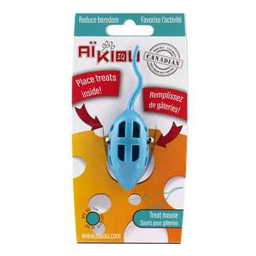 Picture of TOY CAT AIKIOU CAT TREAT MOUSE TOY - Aqua