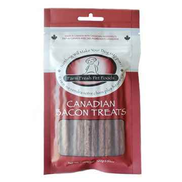 Picture of TREAT CANINE CANADIAN BACON TREATS - 100g