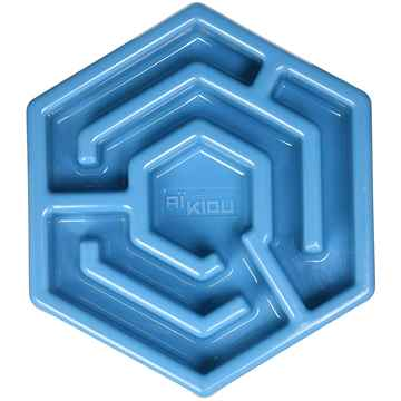 Picture of BOWL AIKIOU CANINE HEXA SLOW FEEDER - Blue