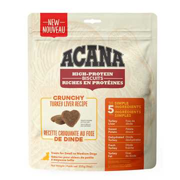 Picture of TREAT ACANA HIGH PROTEIN TURKEY LIVER BISCUITS Small - 255g/9oz