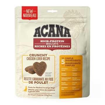 Picture of TREAT ACANA HIGH PROTEIN CHICKEN LIVER BISCUITS Large - 255g/9oz