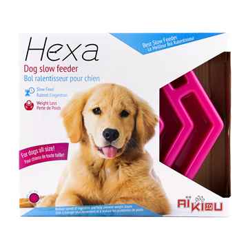 Picture of BOWL AIKIOU CANINE HEXA SLOW FEEDER - Pink