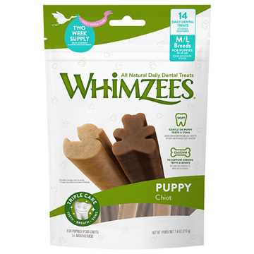 Picture of TREAT CANINE Whimzees Dental Puppy Stix Daily Med/Lrg Breed - 14/pk