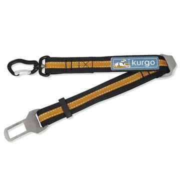 Picture of SEATBELT TETHER KURGO Direct to Seatbelt - Black/Orange