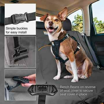 Picture of AUTO SEAT PROTECTOR KURGO Wander Bench - Charcoal