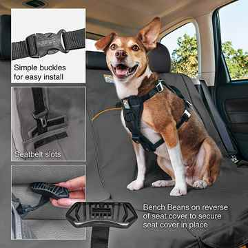 Picture of AUTO SEAT PROTECTOR KURGO Extended Wander Bench - Charcoal