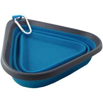 Picture of BOWL KURGO Mash & Stash Collapsible Blue/Charcoal - 24oz