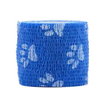 Picture of PETWRAP BANDAGE Blue Paw Pattern - 2in x 5yds