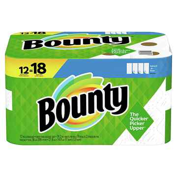 Picture of TOWEL BOUNTY SELECT-A-SIZE 2 PLY 74 SHEETS - 12 rolls/PK