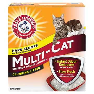 Picture of CAT LITTER ARM & HAMMER MULTI CAT CLUMPING - 12.7kg