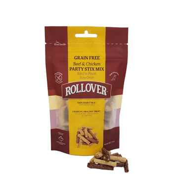 Picture of ROLLOVER BEEF & CHICKEN GRAIN FREE PARTY STIX MIX - 100g