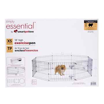 Picture of EXERCISE PEN Simply Essential BLACK X Small - 8 panels 24inW x 18inH