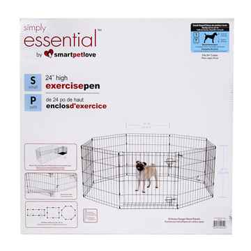Picture of EXERCISE PEN Simply Essential BLACK Small - 8 panels 24inW x 24inH