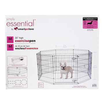 Picture of EXERCISE PEN Simply Essential BLACK Medium - 8 panels  24inW x 30inH