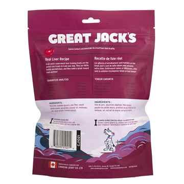 Picture of TREAT CANINE GREAT JACKS SOFT&CHEWY BIG BITZ GF PORK LIVER - 14oz