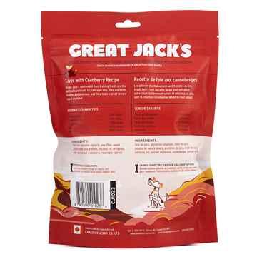 Picture of TREAT CANINE GREAT JACKS SOFT&CHEWY BIG BITZ GF PORK LIVER & CRANBERRY - 14oz