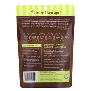 Picture of TREAT CANINE COCOTHERAPY Maggies Macaroons Coconut Apple Pie - 4oz
