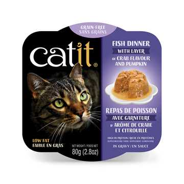 Picture of CATIT FISH DINER WITH CRAB FLAVOR & PUMPKIN - 6 x 80g/2.8oz